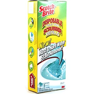 Scotch-Brite Disposable Toilet Scrubber Replacement Pads, Set of 5
