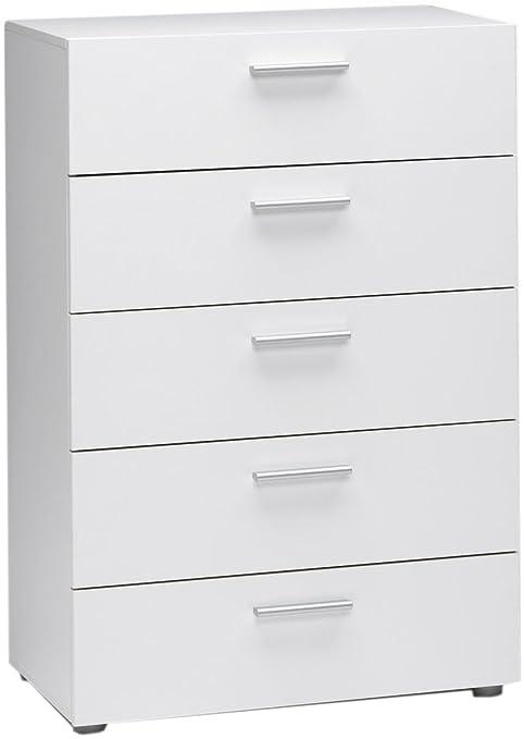 Tvilum Austin 5-Drawer Dresser, White