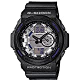 Casio G Shock Anti-magnetic Blue Dial White Resin Mens Watch GA150MF-7ACR image
