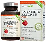 NatureWise Raspberry Ketones Plus+ Weight Loss Supplement and Appetite Suppressant, 120 Caps