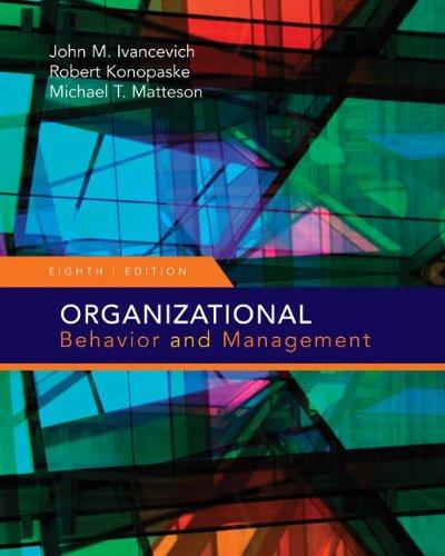 Organizational Behavior and Management (Organizational...