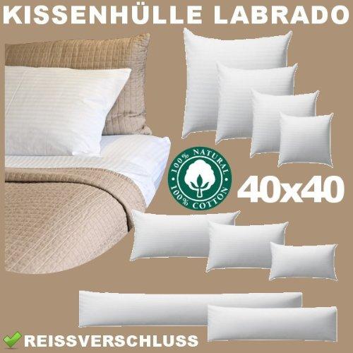 Kissen-Hülle, Kissen-Bezug, 100% Baumwolle, Reißverschluss, 40x40 cm