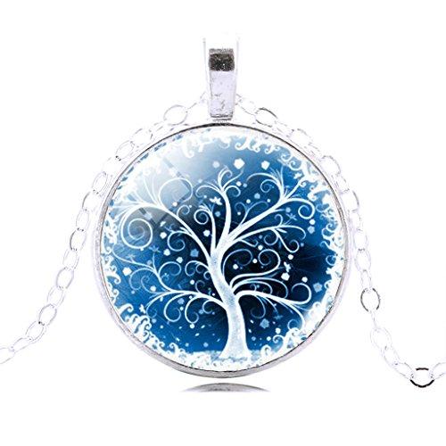 filles-jolies-neige-arbre-vie-pierre-chaine-collier-cadeau-de-noel