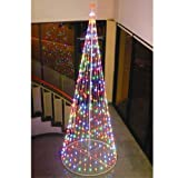 "Homebrite 120"" Prelit Artificial Christmas LED Outdoor Cone Tree ,61375, Multi-color"