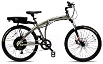 Prodeco V3 Storm 500 8 Speed Folding Electric Bicycle, Pewter Metallic, 26-Inch/One Size