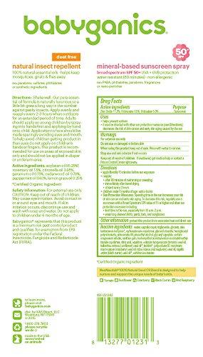 Babyganics-Mineral-Based-Baby-Sunscreen-Spray-SPF-50-6oz-Spray-Bottle-Natural-Insect-Repellent-6oz-Spray-Bottle-Combo-Pack