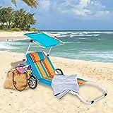 Ultranatura-Strandliege-Nizza-mit-Sonnendach-und-Rdern