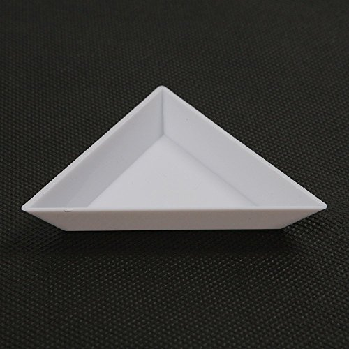 Plastic Triangular Bead Sorting Trays Counting Dish Storage Display Plate Pack of 10 (Dish Storage Display compare prices)