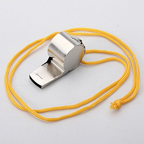 Metal Whistle Referee Sports Blowing Whistles With Coloured String