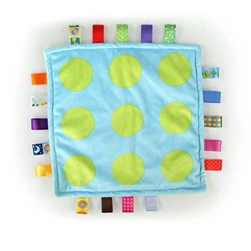 Taggies Little Plush Blanket, Blue/Green