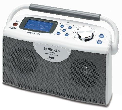 Roberts WM202W Stream202 Stereo DAB/FM/Wi-Fi Internet Radio-White