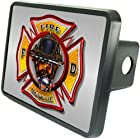 Firefighter Emblem Custom Hitch Plug for 2