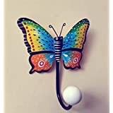 Cratly 2D Butterfly Wall Hanger For Kids Room Made Of Unbreakable Iron