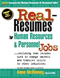 img - for Real-Resumes for Human Resources & Personnel Jobs book / textbook / text book