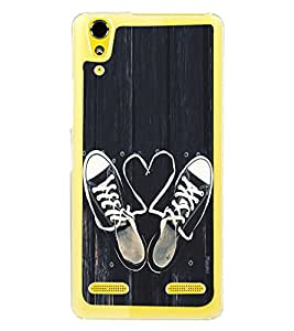 Love Laces 2D Hard Polycarbonate Designer Back Case Cover for Lenovo A6000 Plus :: Lenovo A6000+ :: Lenovo A6000