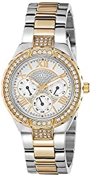 Guess Analog White Dial Womens Watch - W0111L5