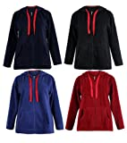 Curvylicious Women's Plus Size Fleece Zip Fasten Hoodie