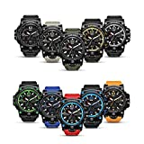 Men's Military Analog Digital Watch Display Sports Watches Multifunctional Large Wrist Watches for Men