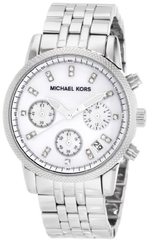 Michael Kors Mk5020 Ladies Sport Chronograph Silver Dial with Stainless Steel Bracelet Watch