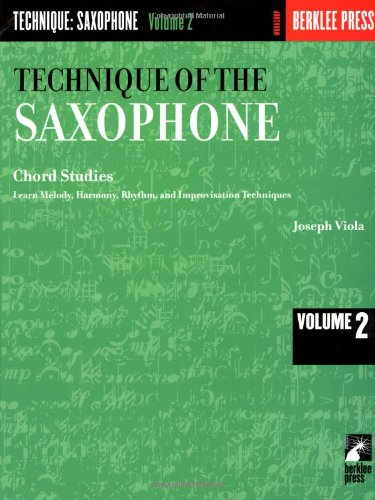 Technique of the Saxophone - Volume 2: Chord Studies (Woodwind Method)