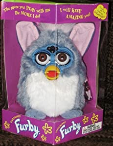 Furby Model 70-800 Blue/Gray with White Belly Electronic Furbie
