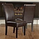 Best Selling Lisa PU Dining Chair, Chocolate Brown, Set of 2