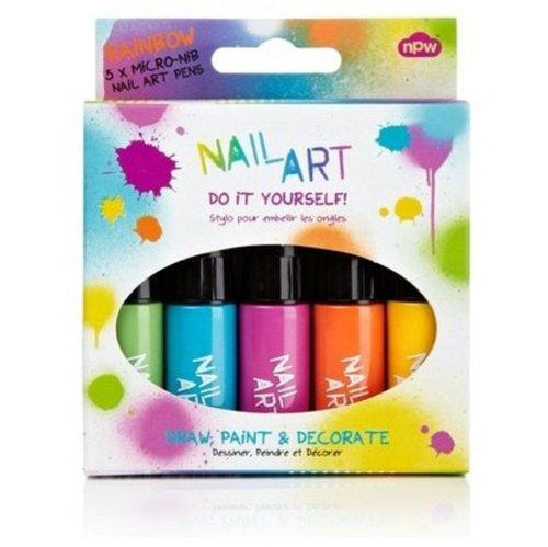 Nail Art- Mini Pens- Rainbow Brights (5 Pk)