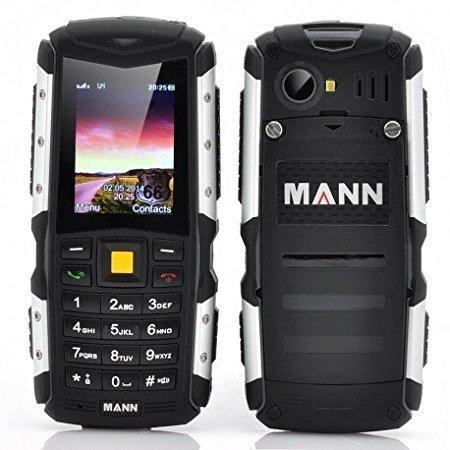 EasySMX MANN ZUG S Teléfono Móvil Impermeable de IP67 Protección contra Polvo Choque y Mala Condiciones en el Exterior con Cámara y Bluetooth Celular Barato (Gris)