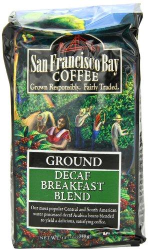 San Francisco Bay Coffee Ground Decaf Breakfast Blend, 12-Ounce Bag