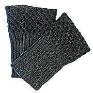 Luxury Divas Black Warm Knit Boot Cuf…