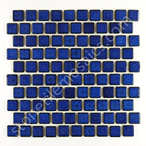 cobalt blue porcelain kitchen backsplash mosaic brick subway tile
