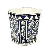 Craftghar Ceramic Vase - (5x5x26 in, Blue)