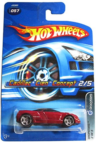 Hot Wheels 2006-057 Cadillac Cien Concept Burgundy Dropstars Faster Than Ever 1:64 Scale 1:64 Scale - 1