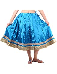 Sunshine Enterprises Women's Satin Wrap Skirt (Blue) - B01HELPL2E