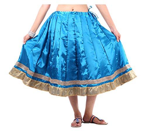 Sunshine Enterprises Women's Satin Wrap Skirt (Blue) - B01HELPL2E