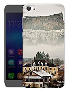 """Humor Gang High Altitude Hills And Houses Printed Designer Mobile Back Cover For """"Huawei Honor 6"""" (3D, Matte, Premium Quality Snap On Case)"""