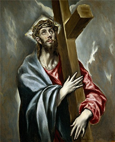 Perfect Effect Canvas ,the Reproductions Art Decorative Canvas Prints Of Oil Painting 'El Greco Christ Clasping The Cross Ca. 1602 ', 18 X 22 Inch / 46 X 57 Cm Is Best For Game Room Artwork And Home Decoration And Gifts (Leopard Print Tea Kettle compare prices)
