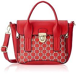 Lavie Warblers Women's Satchel Handbag (Red) (L07111183041)