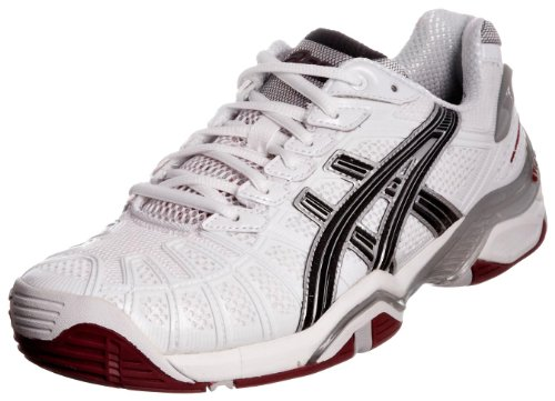 Asics Men's Gel Resolution 3 M White/Black/Brick Red Tennis Shoe E100N0190 7 UK