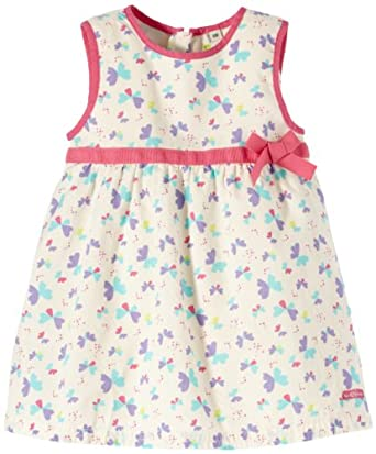 TOM TAILOR Kids Baby-Girls lovley butterfly dress/402, Off-White (bone), 6-9 Months