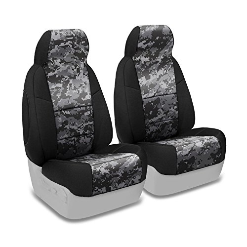 Coverking Front 50/50 Bucket Custom Fit Seat Cover for Select Toyota Tacoma Models - Neosupreme (Digital Urban Camo with Black Sides) (Custom Fit Seat Covers Camo compare prices)