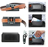 NWNK13® Samsung Galaxy S / i9000 Black Premium Pu Leather Belt Case Cover Plus Screen Protector & Cleaning Cloth