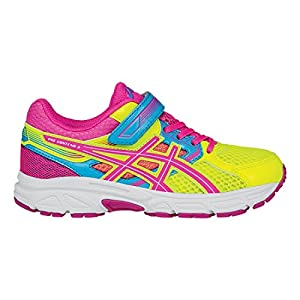 ASICS Pre Contend 3 PS Running Shoe (Infant/Toddler/Little Kid), Flash Yellow/Hot Pink/Turquoise, 10 M US Toddler