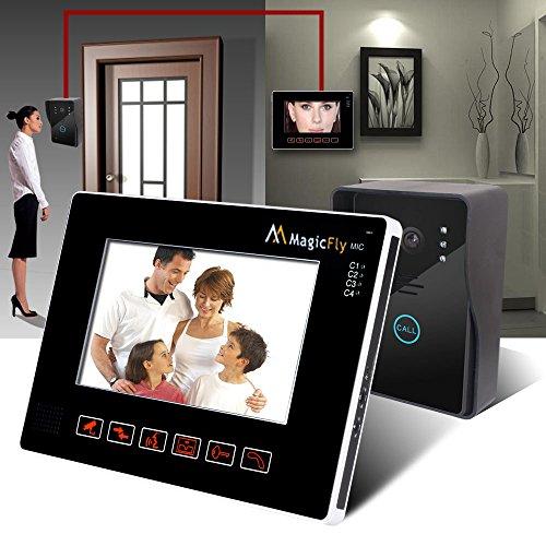 "Magicfly 7""Lcd Wireless Video Doorbell Door Phone Intercom System Night Vision, Waterproof"