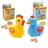 1pc Gallina De Historieta Preciosa O Pato Ponen Huevos De Animales Terminan Juguete Mecánico