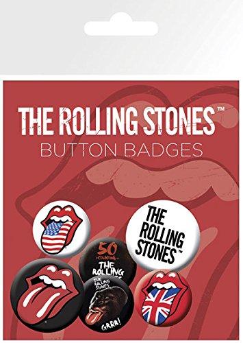 GB eye, The Rolling Stones Lips, Pack de Chapas