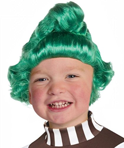 Costume Adventure Child's Oompa Loompa Style Green Elf Costume Wig