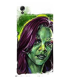 Black American Girl wall Painting 3D Hard Polycarbonate Designer Back Case Cover for Sony Xperia Z3+ :: Sony Xperia Z3 Plus :: Sony Xperia Z3+ dual :: Sony Xperia Z3 Plus E6533 E6553 :: Sony Xperia Z4