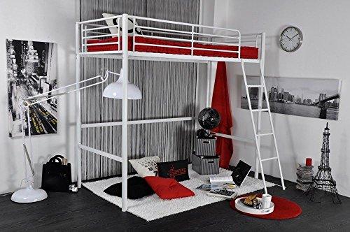 Letto a soppalco singolo metallo bianco camera letto ragazzi rocket recensioni camera da letto - Letto soppalco singolo ...