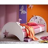 Jugendbett Sternchen 90*200 cm lila weiß Kinderbett Jugendliege Bettliege Bett